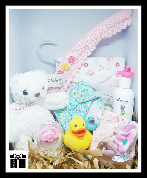 Pink and pretty baby spoil gift box picture