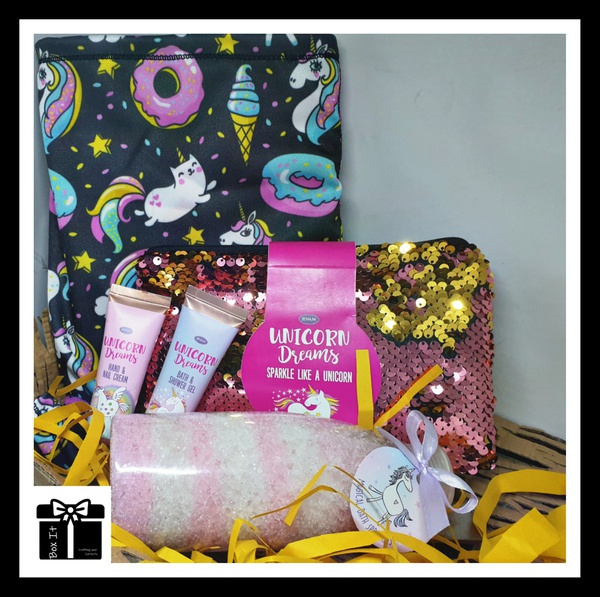 Unicorn sparkle and safe gift box picture