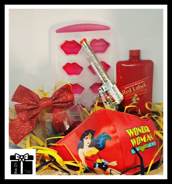Red  is wonder woman's colour gift box picture