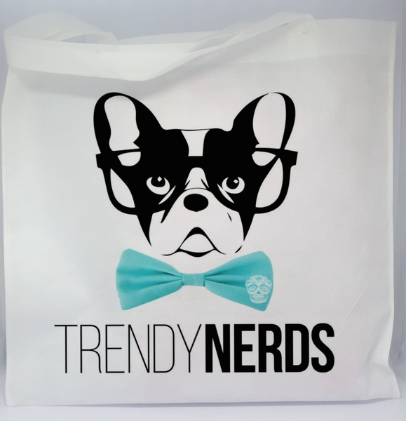 Trendy boston nerds casual bag - blue picture