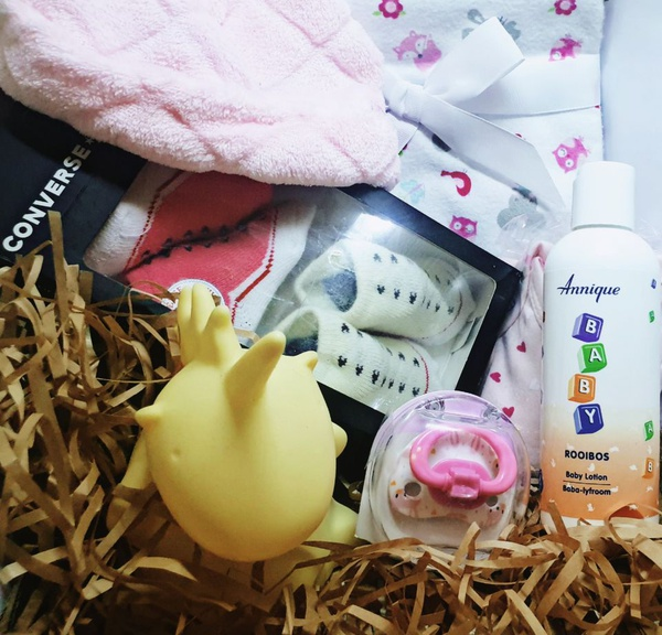 Baby pink love gift box picture