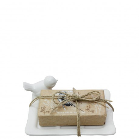Bird study - ceramic soap dish giftset picture