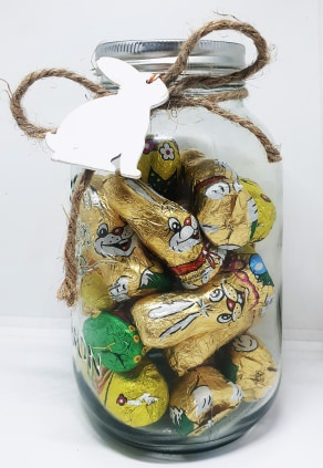 Easter bunny chocolate jar picture