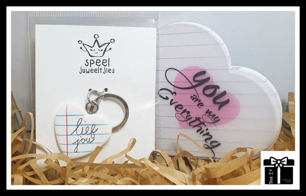 """""""lief jou want jy is my alles"""" gift box picture"""