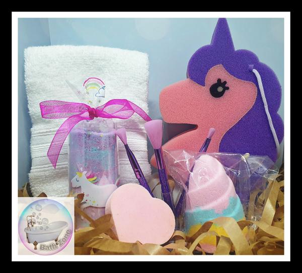 Bath zone unicorn pamper gift box picture