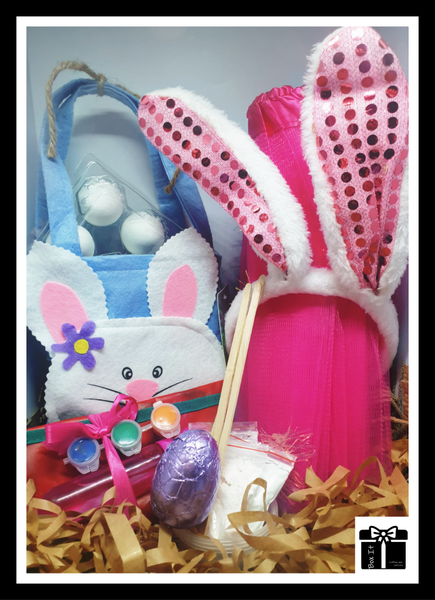 Pretty bunny decorate your choco easter eggs gift box picture