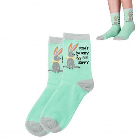 Easter - novelty socks - don't worry bee hoppy picture