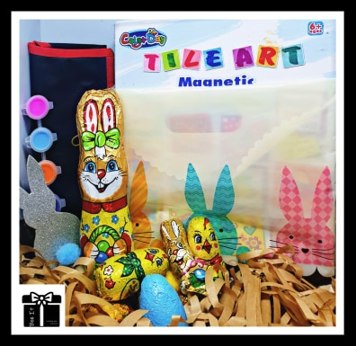 Diy easter tile art activity box picture