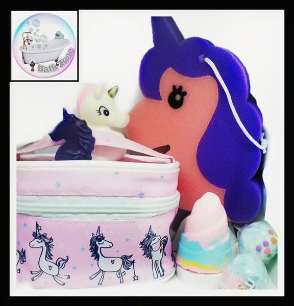 Bath zone magical unicorn bath gift set picture