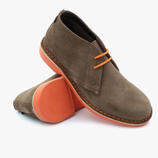 Donkey with orange sole safari boot picture