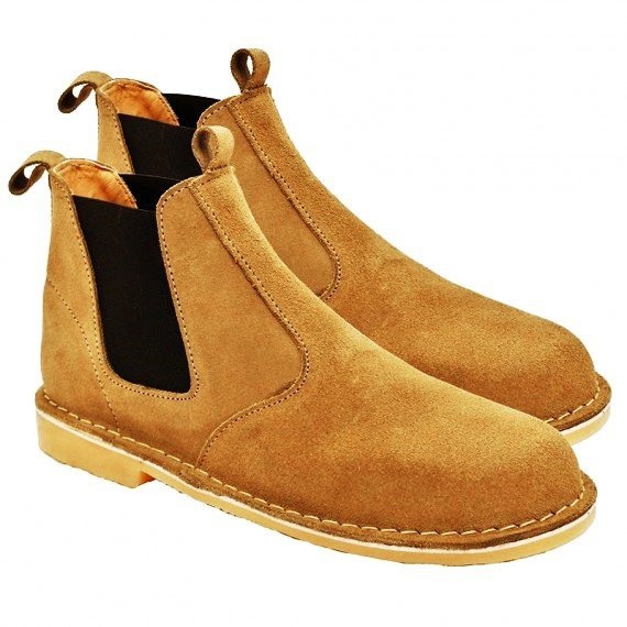 Chelsea taupe slip-on safari boot picture