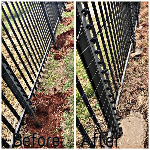 Straighten Palisade Fence picture