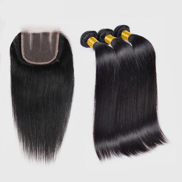 14 inches brazilian straight hair plus closure picture