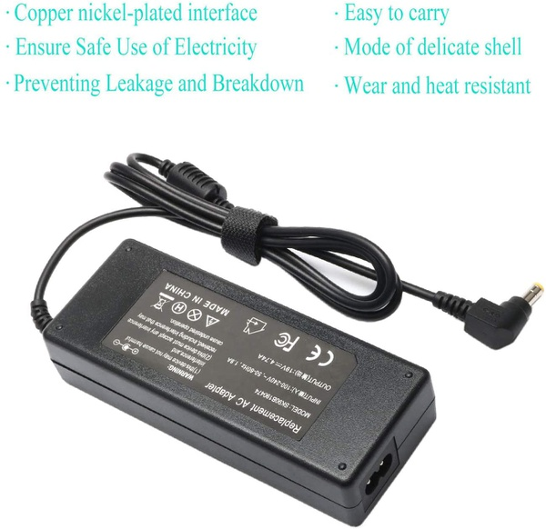 19v 65w ac adapter cord charger cable for jbl boombox portable picture