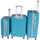3 piece hard outer shell luggage set - dark green picture