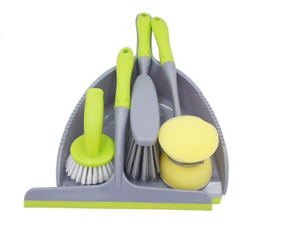 4 piece dustpan cleaning set picture