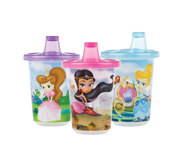 Nuby 3pk cups with lids princess picture