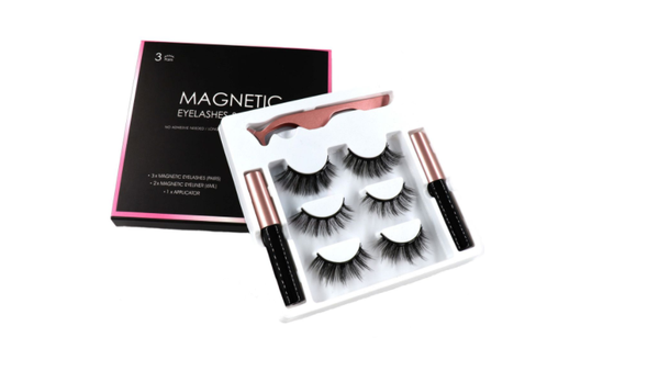 5d magnetic eyelashes 3 sets & 2 eyeliners picture