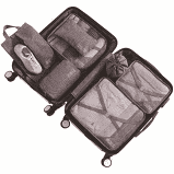 7 piece travel organizer set - black picture