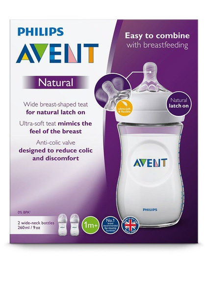 Avent natural bottle 2.0 - 260ml - twin pack picture