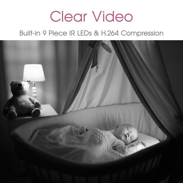 Babywombworld wi-fi video baby monitor nanny camera with sound picture