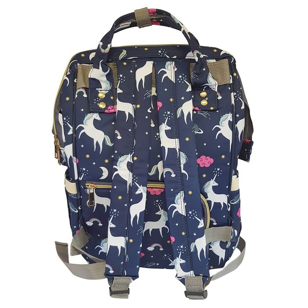 Backpack nappy bag - unicorn navy picture