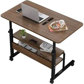 Banggood movable bedside laptop desk wooden computer table study table computer stand picture