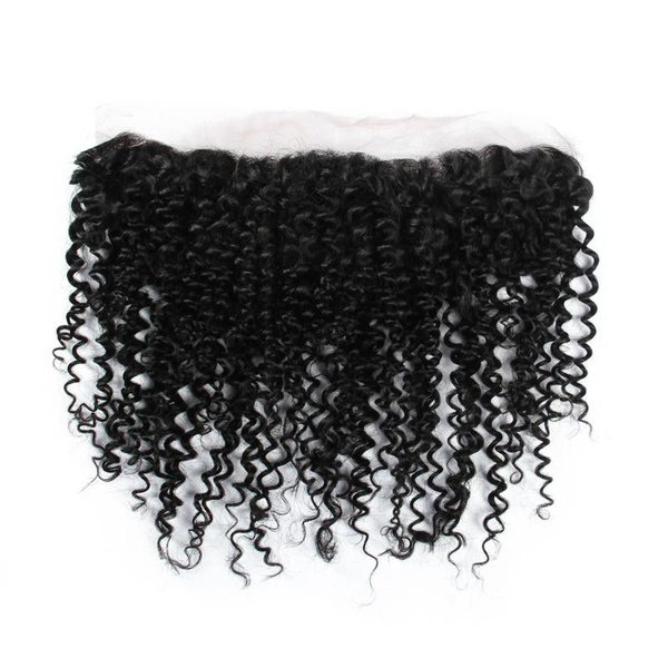 Blkt 12 inches ear to ear human hair kinky curl 13x4 parts closure picture