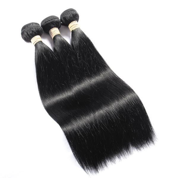 Blkt human hair straight weaves 3x bundles 10 inches picture
