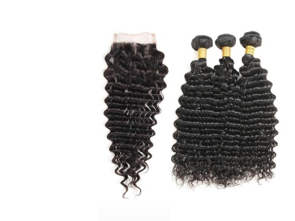Brazilian hair water wave curls picture
