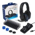 Dobe 5 in 1 headphones - charging dock -game stand -silicon caps for ps4 picture