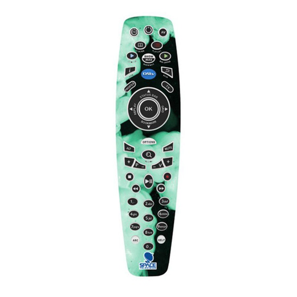 Dstv a7 remote control for explora2 decoder with funky supernova vinyl skin picture