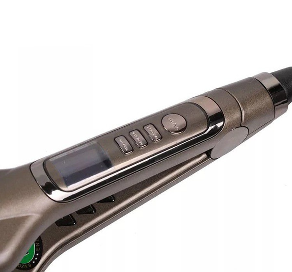 Enzo hair straightener - latest design flat iron keratin with lcd picture