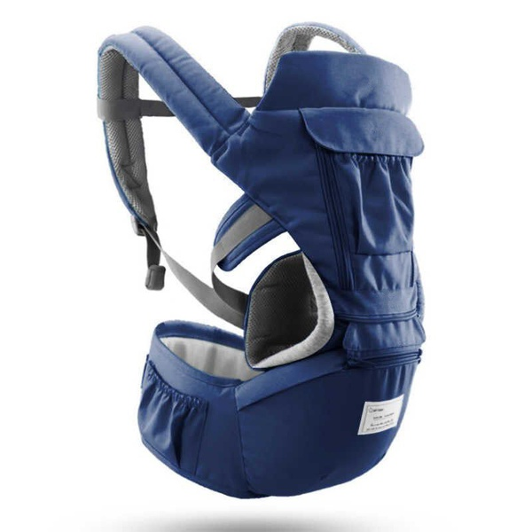 Ergonomic baby carrier infant - navy blue picture