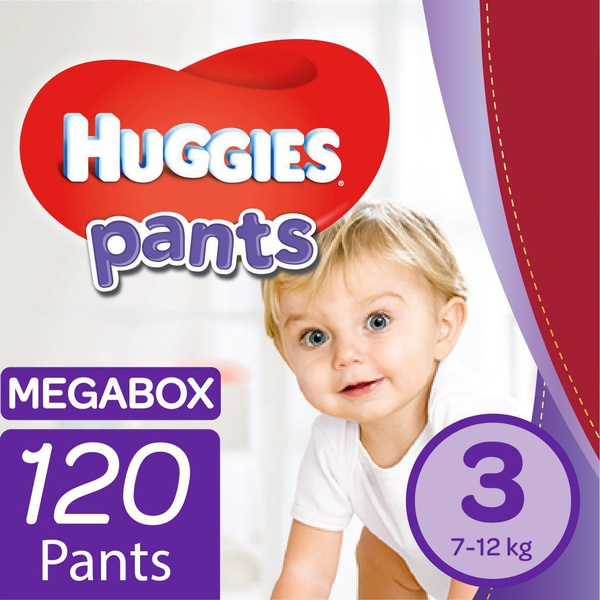 Huggies - nappy pants size 3 mega box - 120's picture