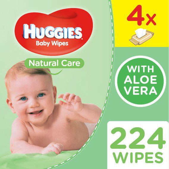 Huggies - natural care quad - 224's 4 x 56 picture