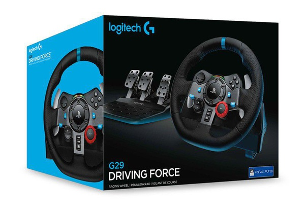 Logitech g29 driving force racing wheel (ps4, ps3 & pc) picture