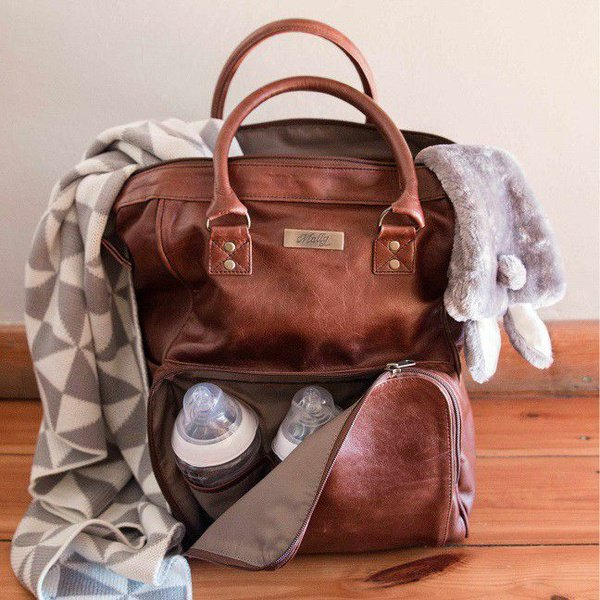 Mally leather bags bambino baby backpack - brown picture