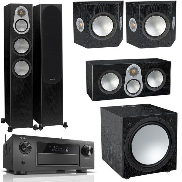 Monitor audio silver 300 system speaker package - black gloss picture