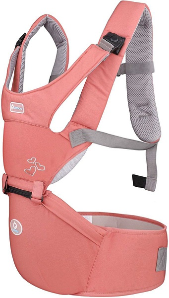 Multifunction ergonomic hipseat baby carrier - peach picture