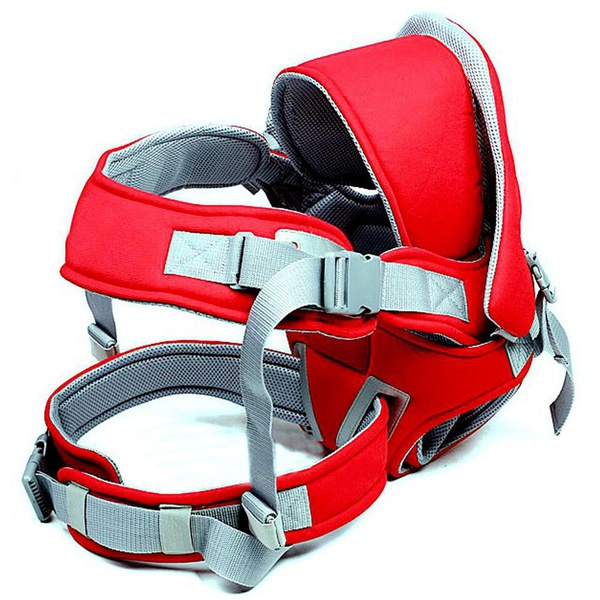 Multifunctional & comfortable baby carrier - red picture