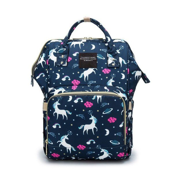 Mummy maternity nappy diaper bag - navy blue picture