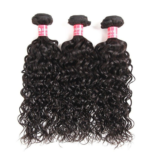 Natural/french curl peruvian hair 24 inches 3bundles picture