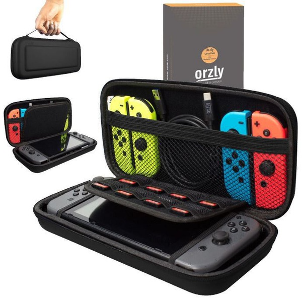 Orzly: protective carry case pouch - black (nintendo switch) picture