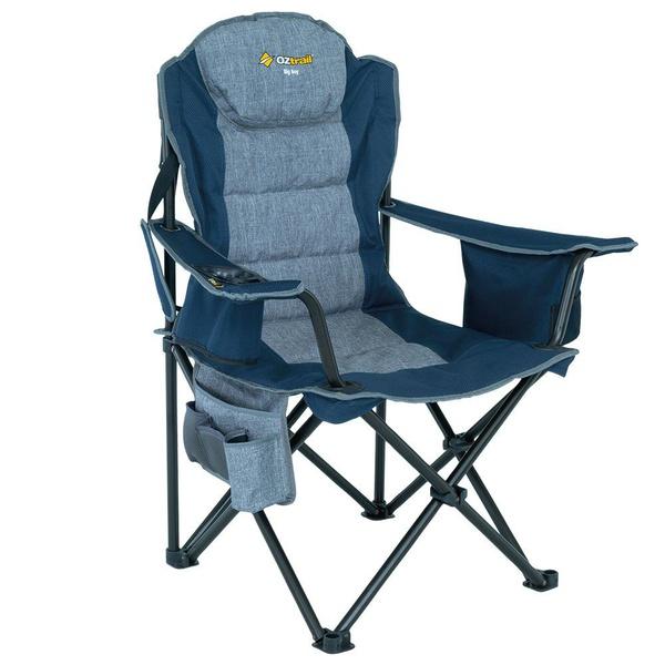 Oztrail big boy arm chair - blue (220kg) picture