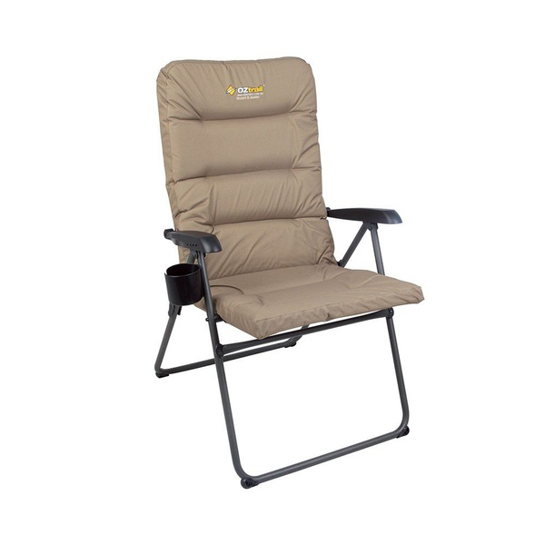 Oztrail coolum 5 position padded arm chair - 150kg picture