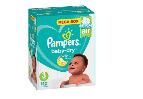 Pampers baby dry - size 3 mega pack - 150 nappies picture