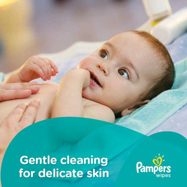 Pampers complete clean baby wipes - 4 x 64 - 256 wipes picture
