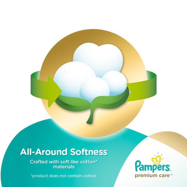 Pampers premium care - size 4 mega pack - 104 nappies picture