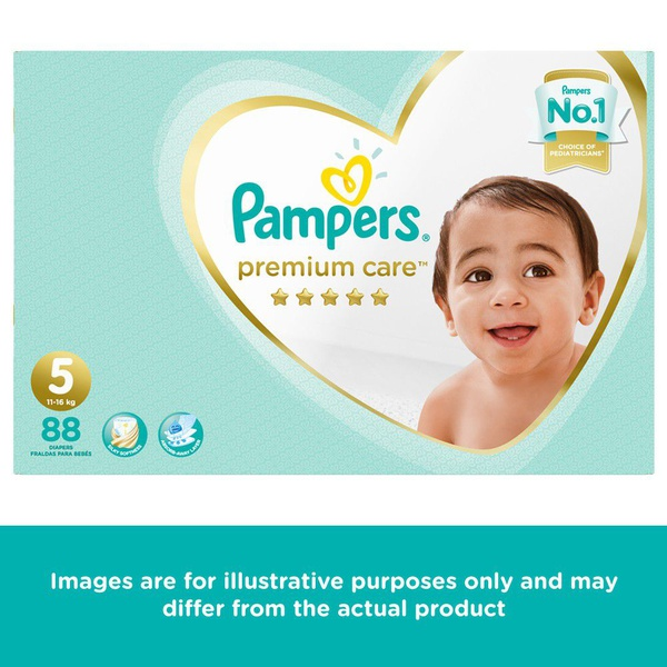 Pampers premium care - size 5 mega pack - 88 nappies picture